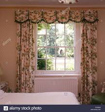 Images Of Curtain Pelmets Pink Floral Curtains And Pelmet On Open Window Above Window Seat