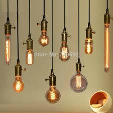 loft edison light bulb lamp vintage copper pendant light e27
