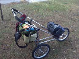 disc golf cart made from stroller golf cart pinterest disc