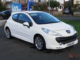 peugeot sports cars for sale 2008 peugeot 207 sport xs 150 white