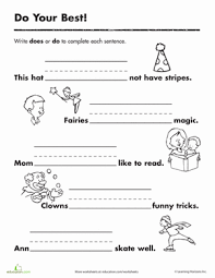 verb worksheets first grade free worksheets library download and