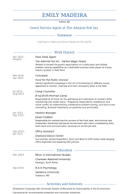 Interests Resume Examples by Front Desk Agent Resume Samples Visualcv Resume Samples Database