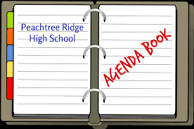 high school agenda student agenda book student peachtree ridge high school