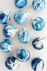 diy indigo marbled ornaments ornament craft and holidays