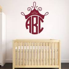 Personalized Wall Decals For Nursery Circle Monogram Decal Wall Decal Monogram By Lcvinyldesigns