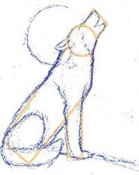 drawn howling wolf easy pencil and in color drawn howling wolf easy