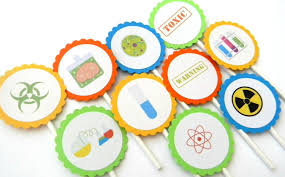 12 science cupcake toppers science birthday science party