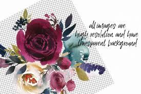 merlot u0026 navy watercolor floral design kit by whiteheartdesign