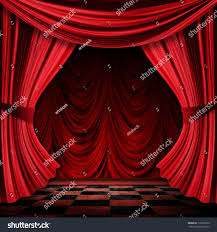 close view vintage decorative red theater stock illustration