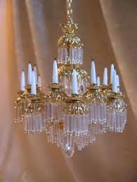 Miniature Chandelier Crystal Artisan Made Dollhouse Miniature Chandelier Crystal Tiered Crystal