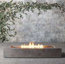 Restoration Hardware Fire Pit by Mendocino Natural Gas Rectangle Fire Table 56