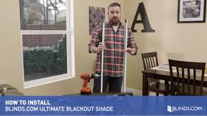how to install blinds com ultimate blackout cellular shades