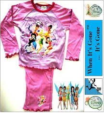 disney fairies tinkerbell pyjamas pjs knickers vest nightie