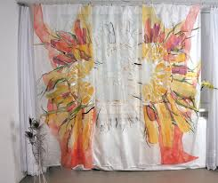 Sunflower Yellow Curtains by