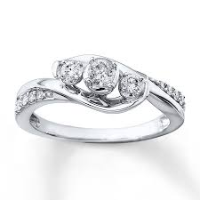 3 engagement ring 3 diamond ring 1 3 ct tw cut 10k white gold