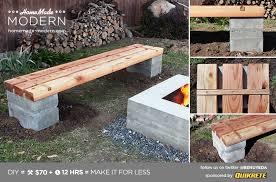 homemade modern ep57 outdoor concrete bench