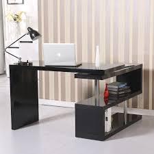 Computer Office Desk by Homcom Rotating Office Desk And Shelf Combo U2013 Black Home Office Sale