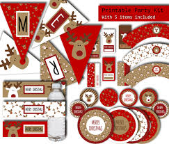 christmas party printables 5 items printable party package