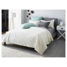 Bed Quilt Linen Blend Quilt Threshold Target