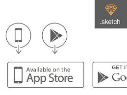free app stores for android apple app store and play store icons sketch freebie