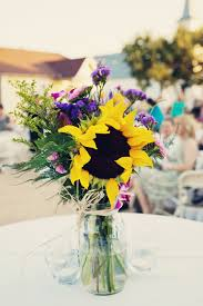 sunflower centerpiece sunflower wedding flowers leigh s inspiration board