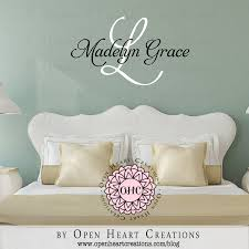 custom decals for walls winda 7 furniture open heart personalized decals for walls creations sample ohc madelyn grace teen initial