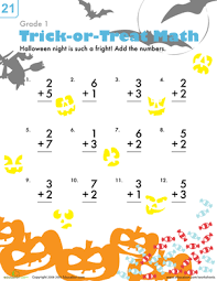 free worksheets 1st grade halloween worksheets free math