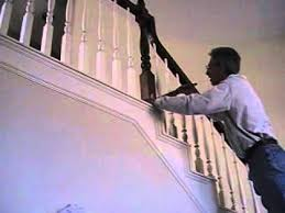 Stripping Paint From Wood Banisters How To Paint Stairway Spindles Y Mod Youtube