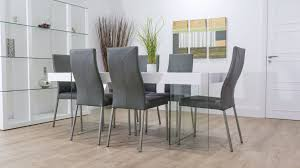 dining room sets leather chairs grey leather dining room chairs alliancemv com
