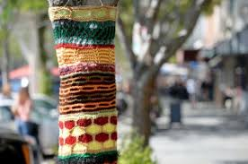 tree sweater yarn bombing artists hit a number of bay area cities with
