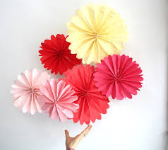 birthday party decor 12 tissue paper pomwheels pick