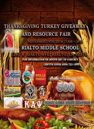 thanksgiving turkey giveaway and resource fair