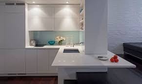 manhattan micro loft white corner kitchen interior design ideas