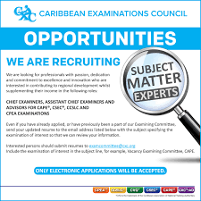 Subject To Send Resume Vacancies Caribbean Examinations Council