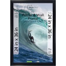 mainstays 24x36 casual poster and picture frame black walmart