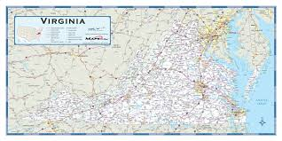 West Virginia Zip Code Map by Virginia Highway Wall Map Maps Com