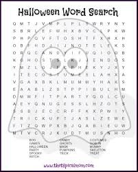 here are several free halloween word search printables pages you