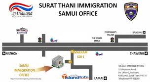 bureau de l immigration samui immigration now in maenam island info samui