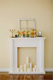 Shabby Chic Fireplace Mantels by 25 Best Fake Mantle Ideas On Pinterest Fake Fireplace Mantel