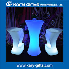 Led Bistro Table Impressive Led Bistro Table With Battery Operated Rechargeable Led