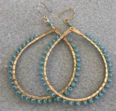vire earrings hammered wire earrings