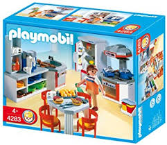 playmobil 4283 kitchen with diner amazon co uk toys