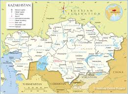 middle east map kazakhstan administrative map of kazakhstan nations project