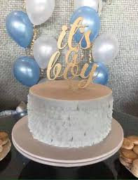 baby shower boy cakes baby shower cake topper gender reveal cake topper it s a boy