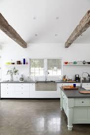 kitchen floor modern farmhouse kitchens concrete farmhouse sinks