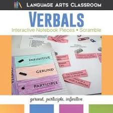 verbals gerunds infinitives participles worksheet and scramble