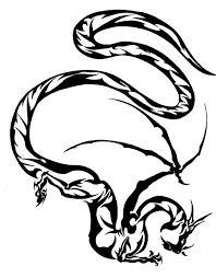 tribal chinese dragon tattoos simple tribal dragon tattoo design by fayde
