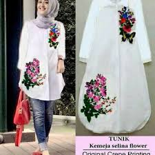 fashion terbaru jual ro tunix selina flower fashion wanita terbaru tunik