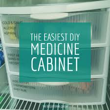 super simple storage tip diy medicine cabinet organization the
