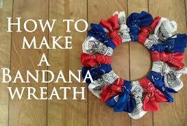 How To Make Wreaths How To Make A Bandana Wreath Youtube